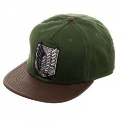 Attack on Titan Waxed Canvas Snap Back Cap