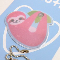 Kawaii Series: Sloth Safety Reflector (pink)