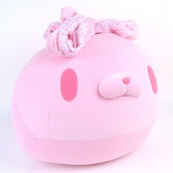 All Purpose Bunny Round Mochi Manju Cushion/Plush: Pink