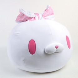 All Purpose Bunny Round Mochi Manju Cushion/Plush: White