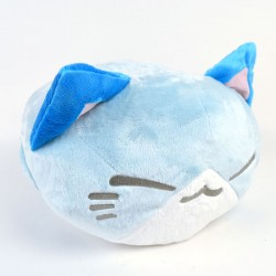 Nemuneko Summer Beach plush cushion: Blue
