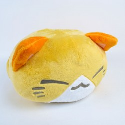 Nemuneko Summer Beach plush cushion: Yellow