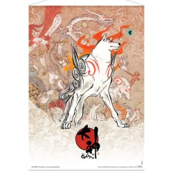 Okami: Amaterasu and Celestial Brush Gods Wallscroll