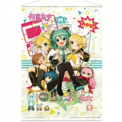 Vocaloid: Hey! Piapro Characters Wallscroll