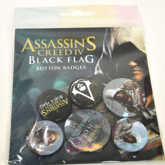 Assassins Creed Black Flag Badge Pack (Set of 6)