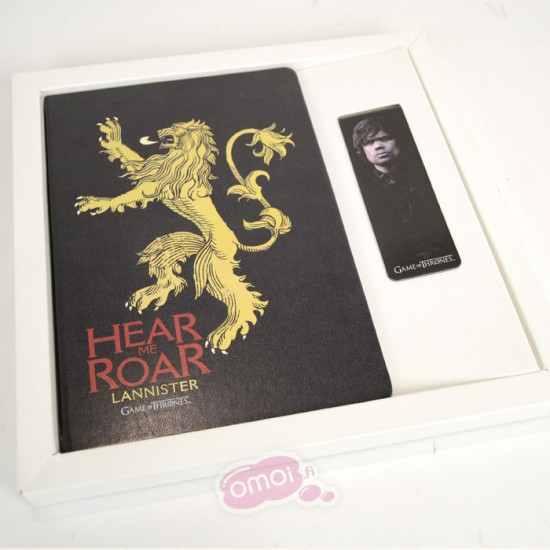 Game of Thrones: Lannisterk A5 Hard Cover Note Book and Magnetic Bookmark Set
