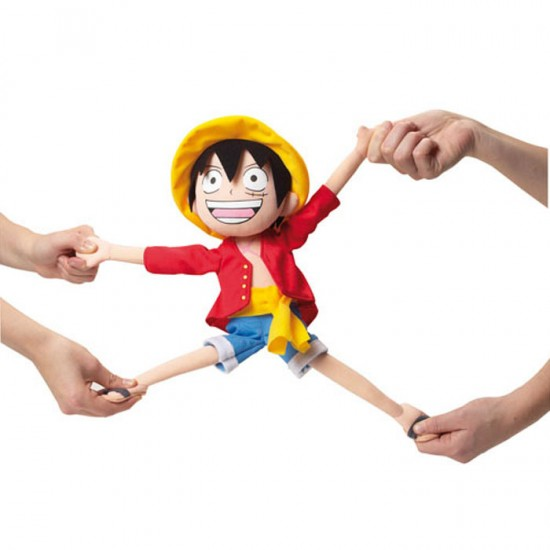 One Piece Elastic Luffy Plush (35cm)