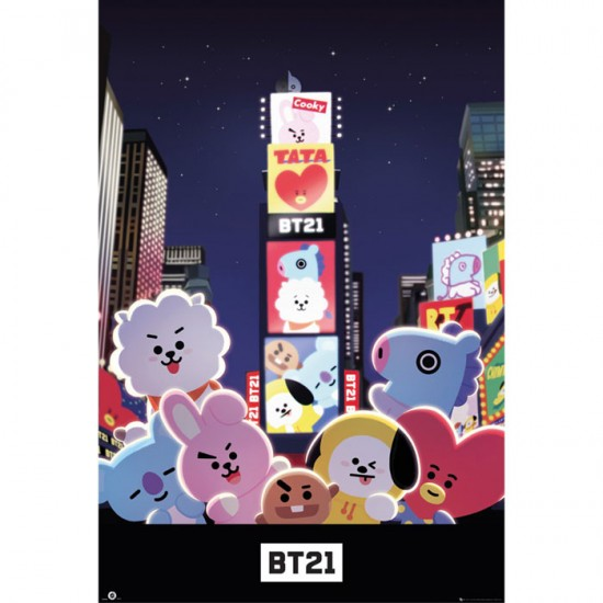 BT21Times Square Poster