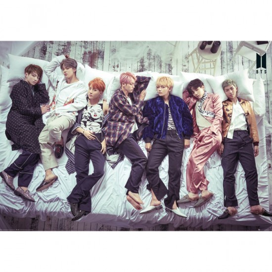 BTS Group Bed Poster